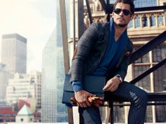 David Gandy and Carolyn Murphy for Massimo Dutti F/W '13 NYC Collection. On location in New York City. Photographed by Hunter and Gatti. September, 2013