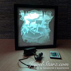 Underwater Scuba Shipwreck Paper Cut Light Box / Ocean Paper Art Silhouette Shadowbox Night Light For Home / Anniversary Gift Shadow Box, Paper Cutting, Cut Paper Art, Lightbox Art, Nature Paper, Nature Crafts, Paper Crafts, Diy Crafts, Diy Paper