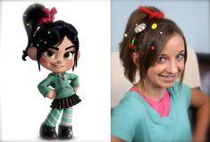 Vanellope von Schweetz Hairstyle tutorial from Disney's Wreck-It Ralph a good crazy hair day idea! Disney Hairstyles, Disney Princess Hairstyles, Old Hairstyles, Cute Girls Hairstyles, Halloween Hairstyles, Holiday Hairstyles, Elegant Hairstyles, Hairdos, Natural Hairstyles