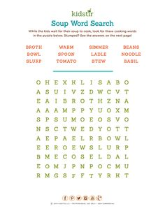 Our Word Search for your Lil Chef. #Kidstir #DIY