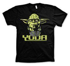 Cool Yoda T-Shirt (Black) Officially Licensed Merchandise T-shirt Star Wars, Dj Yoda, Yoda T Shirt, Star Wars Merchandise, Black M, Star Wars Tshirt, Movie T Shirts, Stars, Cool Stuff
