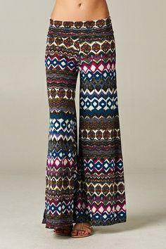 $32.95 Plus Size Palazzo Pants Mayan Magenta - Kelly Brett Boutique
