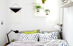 White, natural, tranquil – Marloes' tiny bedroom in the Netherlands #IKEAFAMILYMAG