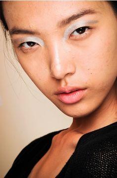 Silver eyeshadow at Phillip Lim Spring 2012