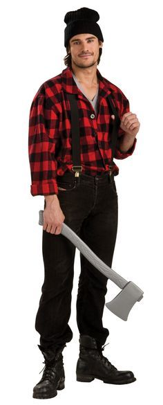 lumberjacks costume ideas lumberjack costume easy mens halloween costumes mens red - Wolf Costume Halloween