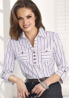 Blouse And Skirt, Blouse Vintage, Vintage Clothing, Fashion Outfits, Womens Fashion, Shirt Blouses, Blouse Designs, Blouses For Women, Casual Dresses