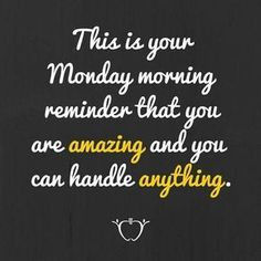 I hope everyone has a great week! Mondays always require a bit of motivation for me! What is your favorite inspirational or motivational quote? Employee Appreciation Quotes, Appreciation Message, Volunteer Appreciation, Monday Quotes, Daily Quotes, Inspirational Quotes For Employees, Motivational Monday, Monday Pics, Motivational Leadership