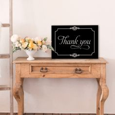 vintage thank you sign