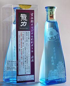 姫路城、特別純米酒「神力」のボトルに-地元版画家が作品提供(写真ニュース)
