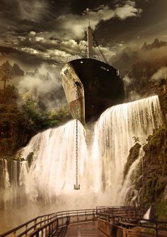 This project is personal and was a bit of a experiment for me, I had this vision of a big ship just hanging there and was also in the mood for some photo manipulation.