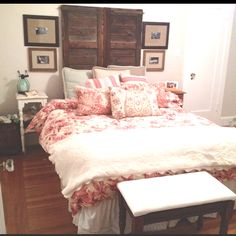 Pottery barn frame and shutter headboard