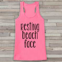 Resting Beach Face - Summer Tank Top - Funny Beach Tank - Surf Tank - Vacation Tank - Boho Tank - Bathing Suit Cover Up - Bikini Cover Up