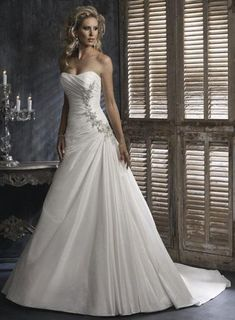 unusual wedding dresses | ... Strapless Beaded A-line Silhouette Corset Unique Wedding Dress | PRLog