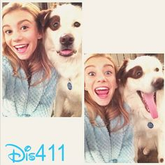 """Photo: G Hannelius And Mick On The Set Of """"Dog With A Blog"""" December 11, 2013"""