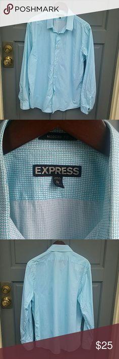 Express modern fit button up dress shirt Excellent condition dress shirt from Express. Only worn once. 100% cotton. Modern fit. Size XL  17/17.5 Express Shirts Dress Shirts