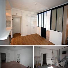 Un studio de 16m2 plein d\'ingéniosité | Small spaces, Tiny studio ...
