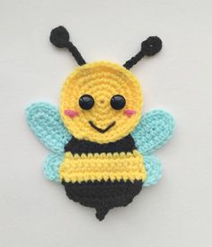 PATTERN Bugs Applique Crochet Patterns PDF Caterpillar Bee Grasshopper Ledybug Crochet Appliques Spring Suumer Motif Baby Blanket Gift ENG – Awesome Knitting Ideas and Newest Knitting Models Motifs D'appliques, Crochet Motifs, Crochet Flower Patterns, Applique Patterns, Crochet Flowers, Knitting Patterns, Crochet Appliques, Crochet Bee Applique, Baby Applique