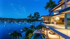 The residence faces north over Careel Bay towards Palm Beach's Snapperman Reserve.