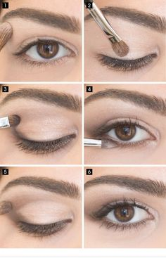 Best Eyeshadow Tutorials - Easy Eye Look - Easy Step by Step How To For Eye Shadow - Cool Makeup Tricks and Eye Makeup Tutorial With Instructions - Quick Ways to Do Smoky Eye, Natural Makeup, Looks for Day and Evening, Brown and Blue Eyes - Cool Ideas for Natural Eyeshadow, Brown Eyeshadow, Makeup For Brown Eyes, Natural Makeup, Eyeshadow Palette, Makeup Eyeshadow, Simple Eye Makeup, Eye Makeup Tips, Beauty Makeup