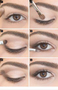 simple-eye-makeup-for-brown-eyes via