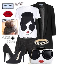 """""""Alice And Olivia"""" by keila-87 on Polyvore featuring moda, Alice & You, Alice + Olivia, Alice Cicolini, Lime Crime e Huda Beauty"""