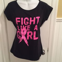 "Fight like a girl tee About 17"" across, unstretched. Ideology Tops Tees - Short Sleeve"