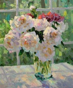 Claude Monet: Peonies (He makes every brushstroke count.) Gotta love a Monet! Claude Monet, Henri Matisse, Renoir, Art Floral, Monet Paintings, Landscape Paintings, Abstract Paintings, Painting Art, Famous Flower Paintings