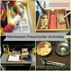 Montessori activities for preschoolers at home. DIY ideas and Montessori materials for my 3.5 year old.