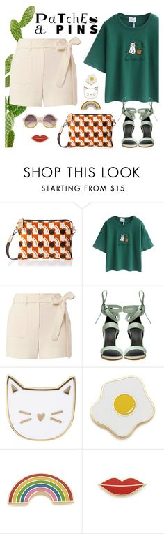 """""""Patch it, Pin it, Perfect!"""" by ana3blue ❤ liked on Polyvore featuring Orla Kiely, Helmut Lang, TIBI, Des Petits Hauts and Georgia Perry"""
