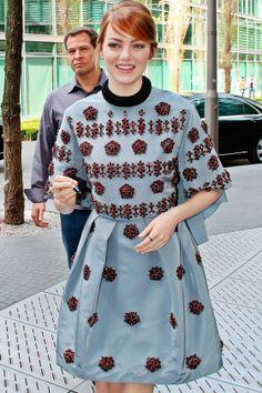 Emma Stone in Erdem #fashion #celebrity #style #erdem