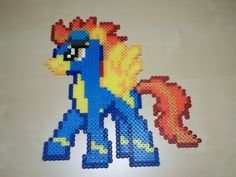 MLP Spitfire (Wonderbolts) perler beads by Perler-Pop