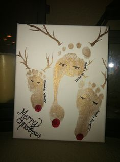Reindeer Footprints for grandmother!