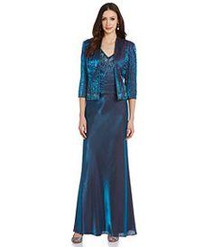 Emma Street 2-Piece Beaded Shimmer Jacket Dress