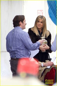 Jennifer Aniston Films Reshoots for 'Office Christmas Party' with TJ Miller