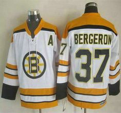 me sale Boston Bruins Jersey 37 Patrice Bergeron White CCM Vintage  Throwback Jerseys b583a83aa