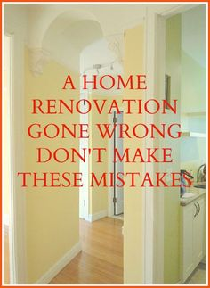 home renovation gone wrong