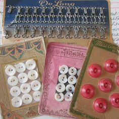 Vintage Sewing Notions Button Cards