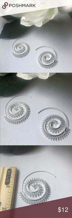 """⚜️Spiral of Life Tribal Earrings⚜️ Spiral of Life Tribal Earrings with delicate & intricate details⚜️Boho style⚜️Fashion Jewelry⚜️Material: Stainless steel⚜️Length: 1"""", Width 1.5""""⚜️Measurements are approximate and colors may vary Jewelry Earrings"""