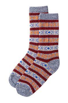 pastel jacquard socks by vanishing elephant on nordstrom rack