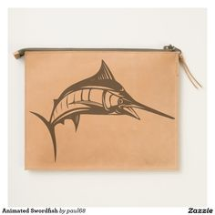 Animated Swordfish Travel Pouch