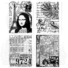 Tim Holtz Cling Mount Stamps - Artistic Collages CMS043