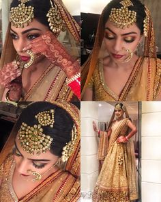 Beautiful Mehak looked fabulous in her wedding day look wearing sabyasachi and gorgeous head gear