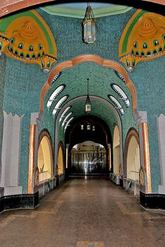 Inside the Art Nouveau Elephant House at the Budapest Zoo, Budapest, Hungary
