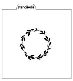 Flexible Stencil *AUSTRALIA* Medium Map Silhouette Card Making 14cm x 14cm