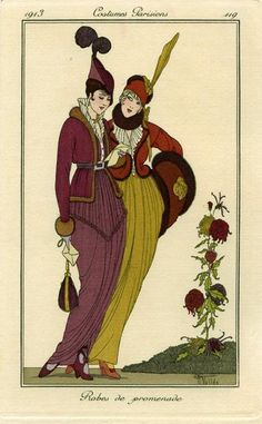 """Robes de promenade"", by Armand Vallée, Costumes parisiens, 1913"