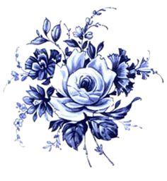 ramo rosas en azul