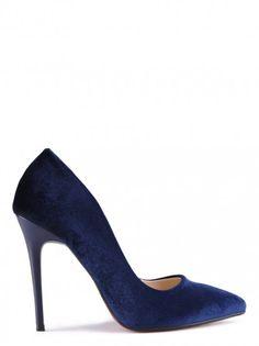 Pantofi de damă cu toc înalt TENDENZ - albastru