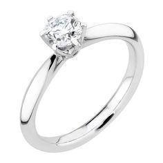 Näyttävä, solitaire-tyylinen Electra-timanttisormus on valmistettu 950-platinasta. Sormuksessa säihkyy upea 0,50 ct (G/VS2) briljanttihiottu timantti. Sulavalinjaiseen, puolipyöreään runkoon timantti on istutettu korotetusti kuuden kynnen kruunuun. Siro, mutta tukeva platinarunko kaventuu imartelevasti kiveä kohden. Electra-sormus toimii näyttävyytensä puolesta yksin, mutta istuu myös upeasti esimerkiksi rivisormuksen rinnalle. Hinta 4890 €. Malm, Engagement Rings, Jewelry, Enagement Rings, Wedding Rings, Jewlery, Jewerly, Schmuck, Jewels
