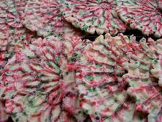 Italian Twelve Days of Baking: Pizzelle Colorate - Ciao Italia - 11 5 Tips For Keeping Active In The Italian Christmas Cookies, Holiday Cookies, Christmas Treats, Christmas Baking, Candy Cookies, Christmas Things, Christmas Goodies, Christmas Desserts, Italian Cookie Recipes