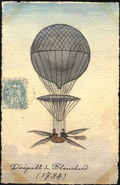 1784: Blanchard's Dirigible by Chemical Heritage Foundation, via Flickr